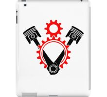 V8 Engine Pistons and Gears Symbol iPad Case/Skin