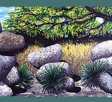 Tree and Boulders by James Lewis Hamilton