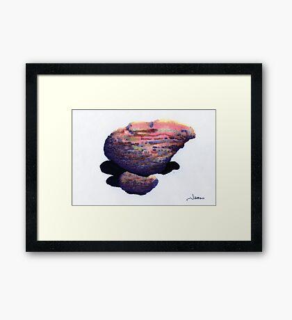 A Big Boulder atop a Small One Framed Print