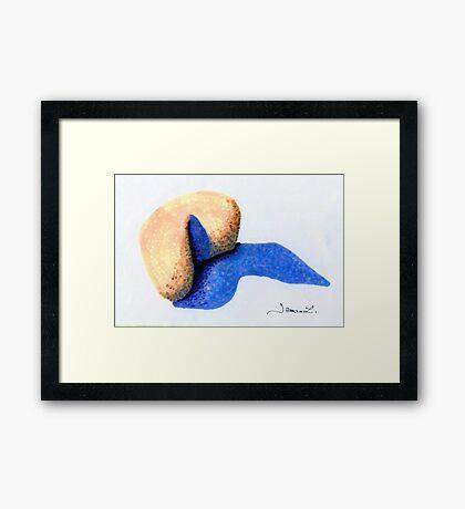 A Singular Boulder Framed Print