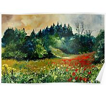 Poppies in Houroy Poster