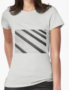 Overhead view closeup of gray marble steps T-Shirt