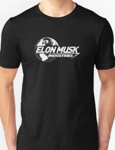 Elon Musk Industries Logo Black T-Shirt