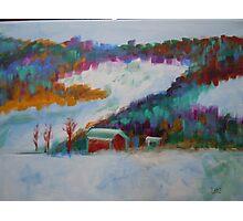 landscape-winter mountains Photographic Print