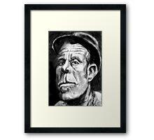 Tom Waits Caricature Framed Print