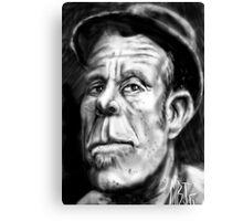 Tom Waits Caricature Canvas Print