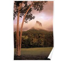 Passing thunderstorm. Mt Coonowrin. Queensland. Poster
