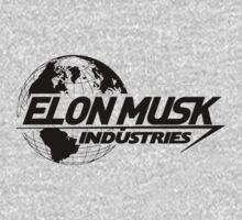 Elon Musk Industries Logo Grey by scubhtee
