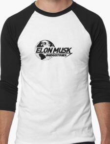Elon Musk Industries Logo Grey Men's Baseball ¾ T-Shirt