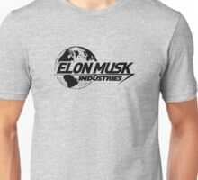 Elon Musk Industries Logo Grey Unisex T-Shirt