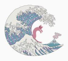 Psychodelic Bubblegum Kunagawa Surfer Cat Kids Clothes