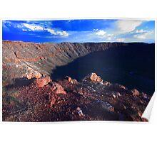Arizona meteor crater Poster