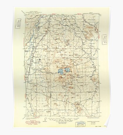 USGS Topo Map Oregon Newberry Crater 283235 1935 125000 Poster