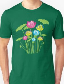 Colorful water lily flowers Unisex T-Shirt