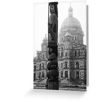 Colliding Cultures Greeting Card