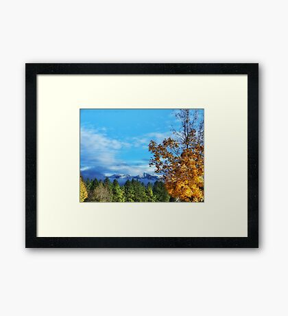 The End of Indian Summer Framed Print