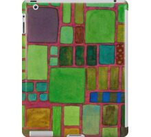 Collection of Rectangles with Blue Striped Staff iPad Case/Skin