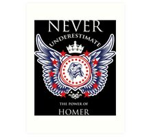 Never Underestimate The Power Of Homer - Tshirts & Accessories Art Print