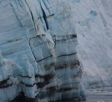 Years of ice layer create mountains of Glacier by MarkySA
