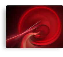 Bloodline Abstract Flame Fractal Canvas Print