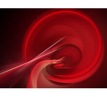 Bloodline Abstract Flame Fractal Photographic Print