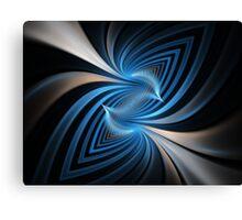 Bluebirds Abstract Fractal Art Canvas Print
