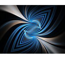 Bluebirds Abstract Fractal Art Photographic Print