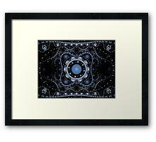 Blue Julian Abstract Fractal Framed Print