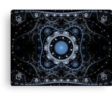 Blue Julian Abstract Fractal Canvas Print
