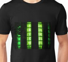 Decorative wall with green glowing at night Unisex T-Shirt
