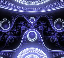 Blue Moon Abstract Fractal by Archetypus