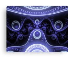 Blue Moon Abstract Fractal Canvas Print
