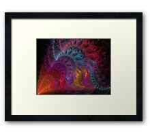 Calliope Abstract Fractal Art Framed Print