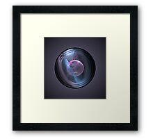 Captive Bubble Abstract Fractal Framed Print