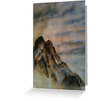 Chinese ink - Mountains Greeting Card