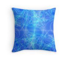 Celestial Roadmap Abstract Fractal Throw Pillow