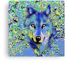Wolf Oil Painting Canvas Print