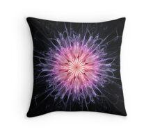 Chrysanthemum Abstract Fractal Throw Pillow