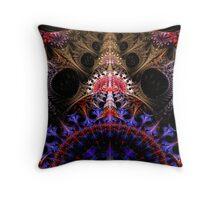 Coronation Abstract Fractal Throw Pillow