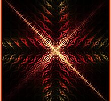Crux Abstract Fractal Artwork by Archetypus