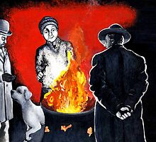Bonfire night by Margaret Sanderson