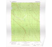 USGS Topo Map Oregon Location Butte 280558 1968 24000 Poster