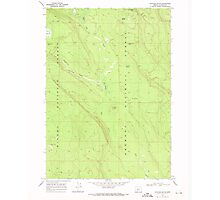 USGS Topo Map Oregon Location Butte 280558 1968 24000 Photographic Print