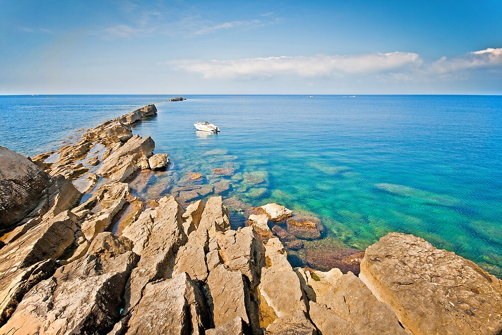 Calm sea in Trapani by mosinski