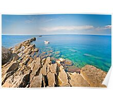 Calm sea in Trapani Poster