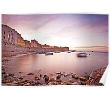 Calm sunset in Trapani bay Poster