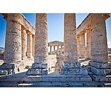 Doric temple in Segesta Photographic Print
