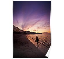 Sunset in Trapani bay Poster