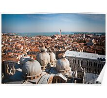 w of St Mark's Basilica from the Campanile tower Poster