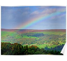Rainbow Over Nidderdale - HDR Poster